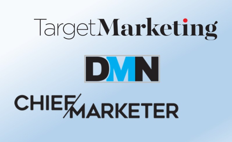 Logos of Target Marketing, DMN - DM News and Chief Marketer - Direct